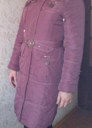 Куртка пальто цвет фуксии
