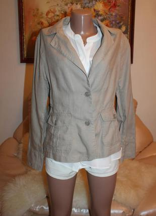 Натуральный лен, шикарный пиджак, размер l casablanca
