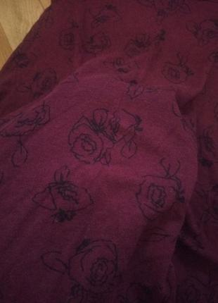 Короткое бордо платье с розами atmosphere
