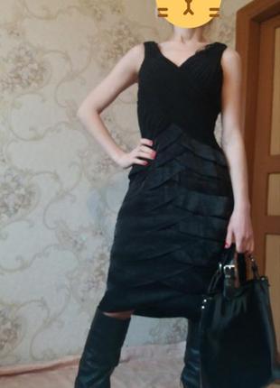 Платье миди с воланами f&f