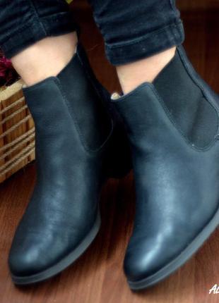 Кожаные челси ботинки clarks оригинал размер 37 стелька 23.5 см