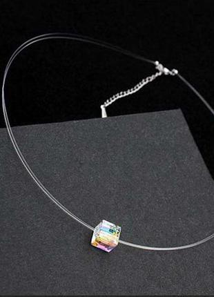 Кулон кристалл на леске  - леска на шею модный тренд!