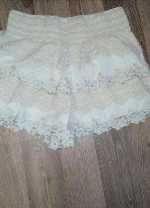 Кружевная юбка-шорты