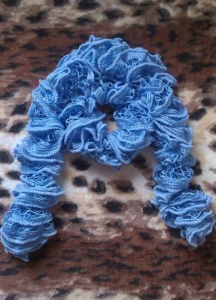 Новый ажурный вязаный шарфик
