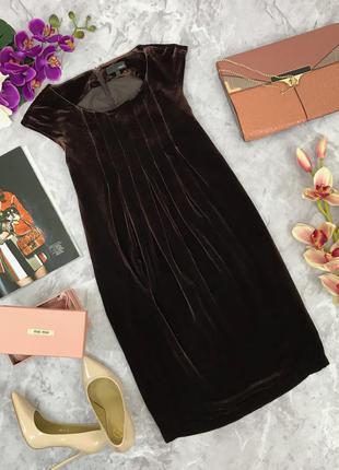 Легкое расклешенное платье из бархата  dr1805172  next