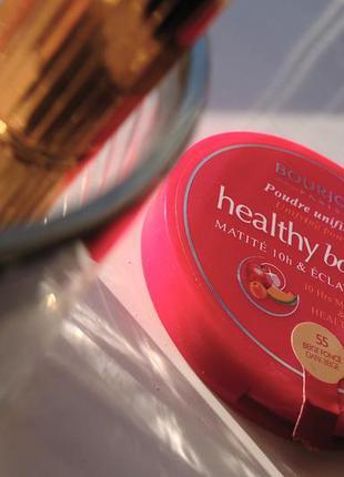 Bourjois healthy balance #55 компактная пудра для лица