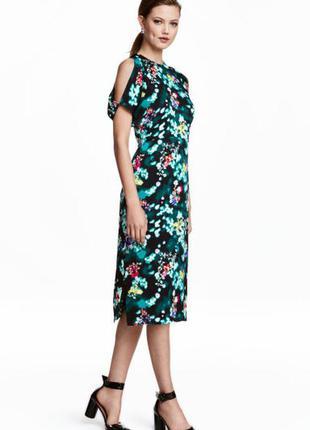 Платье миди в цветочек h&m