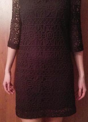 Платье шитье/гипюр.натуральный состав