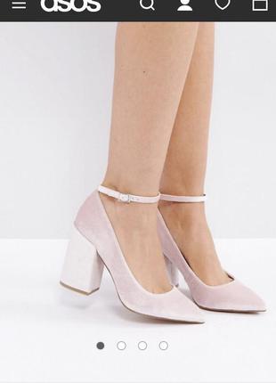 Туфли бархатные асос