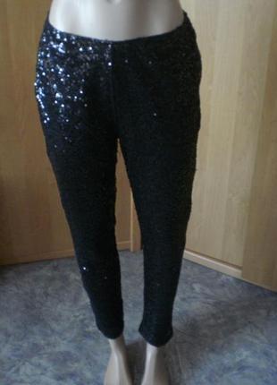 Хит!! шикарные дизайнерские брюки в паетках р. 38 от ashley brooke