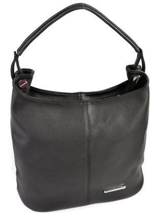 Черная сумка мешок на плечо с одной ручкой матовый женский шоппер