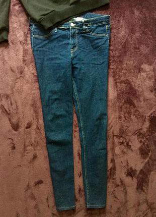 Тёмно синие  джинсы h&m