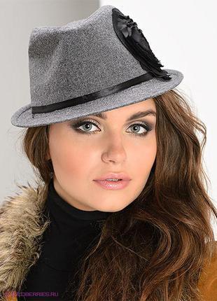 Трендовая шляпа с цветком ог 55-56 новая
