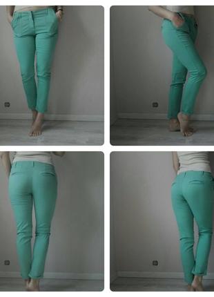Укороченые брюки мятного цвета