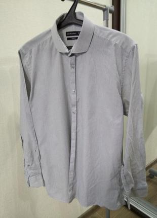 Рубашка полосатая слим фит slim fit 16,5 42