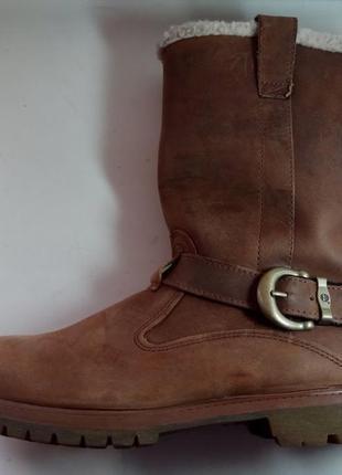 Timberland брендовые кожаные сапоги ботинки оригинал 40-41 размер