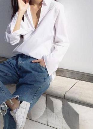 Новые голубые джинсы бойфренды с необработанными краями denim co