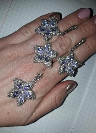 Набір прикрас набор украшений серебро срібло 925