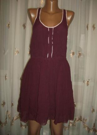 Легкое воздушное платье-сарафан из 100% шелка