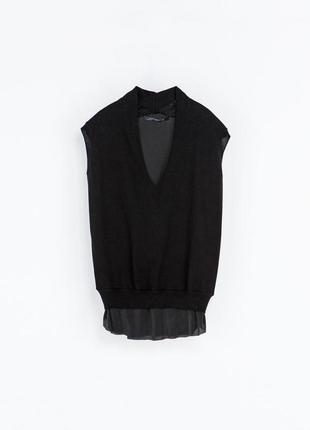 Крутая класическая блуза от cos& c сеткой новая