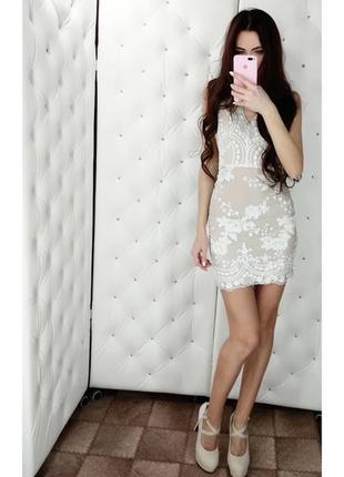 Шикарное нарядное платье пайетка
