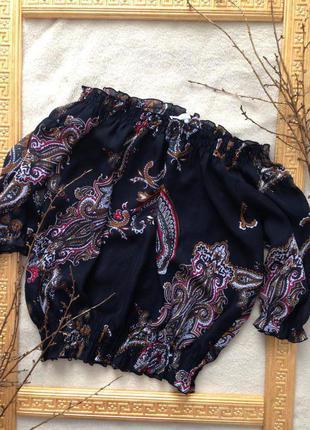 Блуза спущенные плечи  🖤♥️обмен