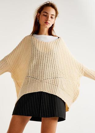 Крутой воздушный свитер оверсайз - м - но можно даже до хл