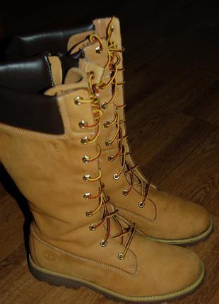 Кожаные сапоги ботинки 38-38,5р timberland оригинал отличное состояние