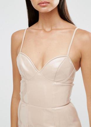 Asos лакированное платье эко-кожа