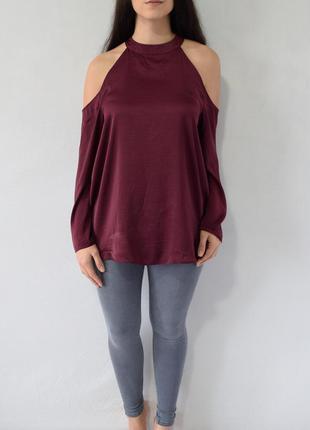 Блузка с открытыми плечами new look