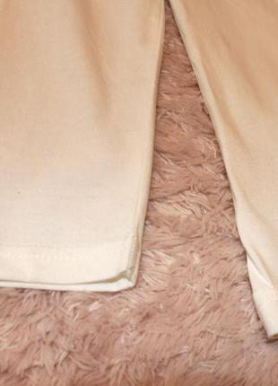 Водолазка молочного цвета на девочку хлопок р.110 takko fashion германия4