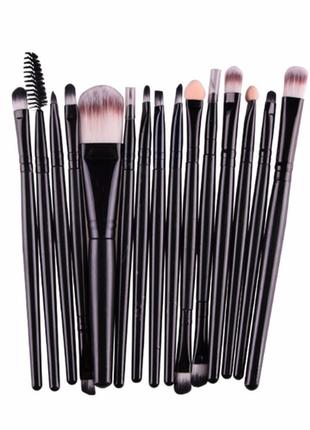 Кисти для макияжа  набор 15 шт black/black