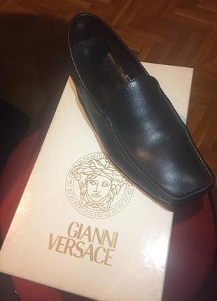 Мужские туфли, лоферы, слиперы versace {оригинал}