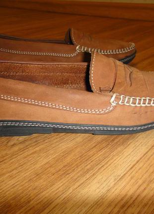 Мягусенькие кожаные туфли, мокасины женские for davide cenci р. 38 стелька 24,5 италия3 фото