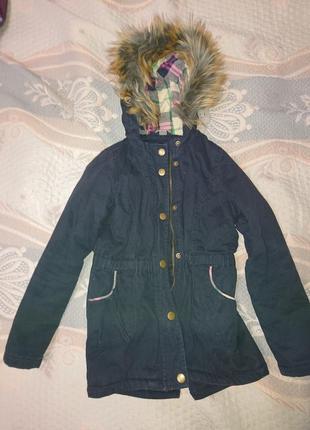 Куртка парка для девочки с капюшоном