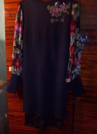 Очень красивое платья с шифоновым рукавом