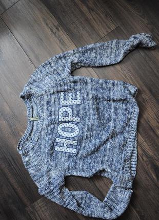 Меланжевый свитер stradivarius