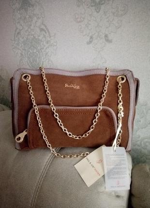 Роскошная замшевая сумочка paul& joy  sister