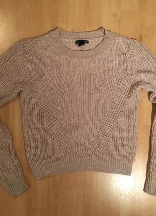 Хлопковый/акриловый свитер h&m