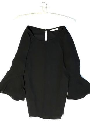Актуальная блуза с воланами на рукавах  george