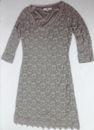 H. красивейшее кружевное платье. s-м размер.