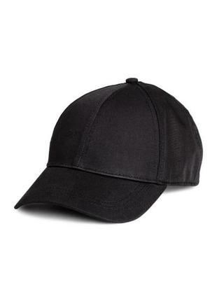 Новая сатиновая бейсболка, кепка, черного цвета, h&m