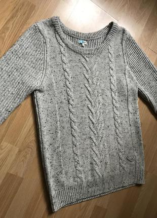Базовый шерстяной свитер roxy l-xl супер качество