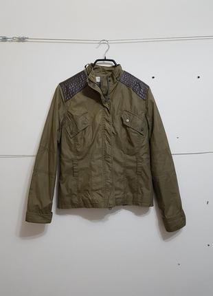 Стильная куртка с кожаными вставками karen millen оригінал