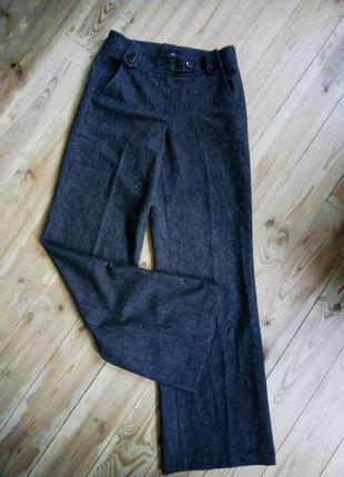 Стильные шикарные теплые шерстяные широкие брюки палаццо,класичесские.