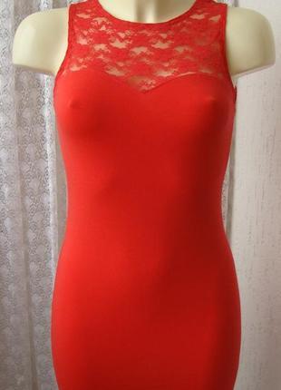 Платье женское легкое летнее хлопок стрейч гипюр мини бренд h&m р.42-44 №5271