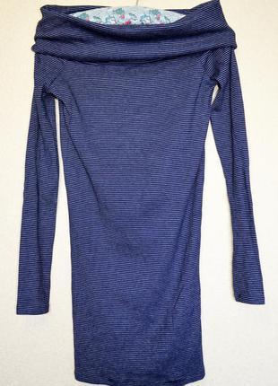 Очень классное  стрейчевое трикотажное платье с горловиной-трансформером, фирмы zara