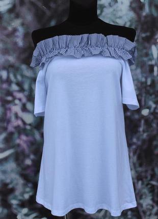 Белая блуза c морским ободком asos