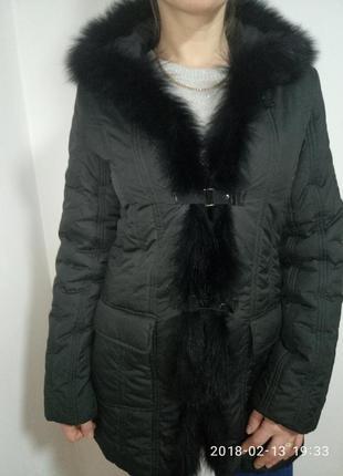 Весенняя куртка с мехом кролика раз. s  sarah lawrence