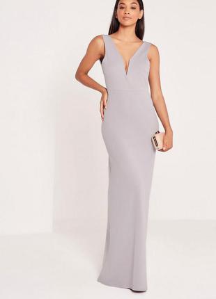 Платье макси с вырезом  missguided
